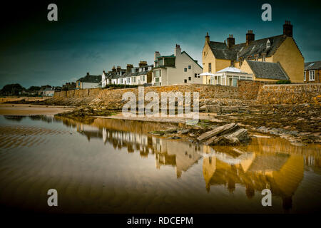Europa, Großbritannien, Schottland, Küste, Küstenwanderweg, Fife Coastal Path, Elie, Bucht, Ebbe - Stock Photo