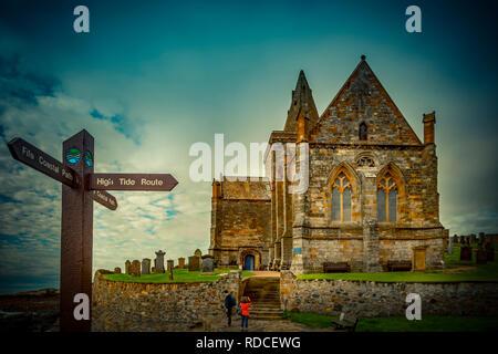 Europa, Großbritannien, Schottland, Küste, Küstenwanderweg, Fife Coastal Path, St. Monans - Stock Photo