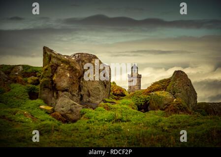 Europa, Großbritannien, Schottland, Küste, Küstenwanderweg, Fife Coastal Path, Anstruther, Hafen, Pier, Leuchtturm - Stock Photo