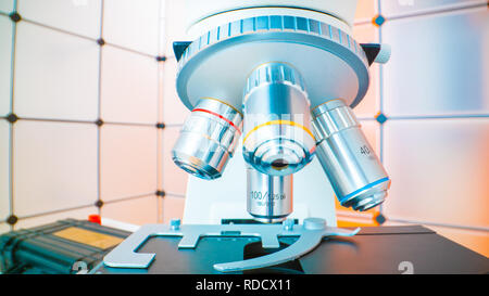 Close-up microscope lens - Stock Photo