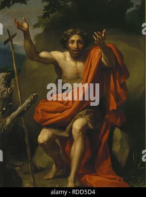 Saint John the Baptist in the Desert. Museum: State Hermitage, St. Petersburg. Author: MENGS, ANTON RAPHAEL. - Stock Photo