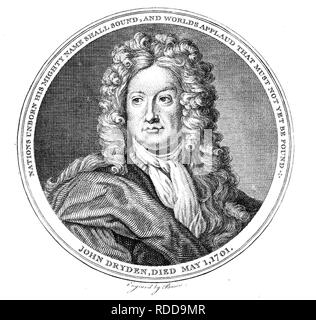 JOHN DRYDEN (1631-1700) English poet and playwright - Stock Photo