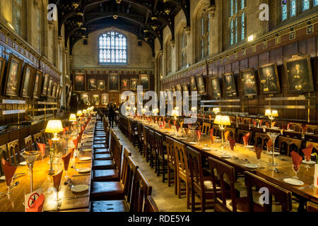 The 16th century Hall of Christ Church, Oxford. - Stock Photo