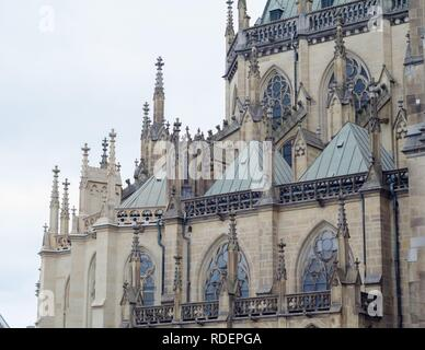 The New Cathedral (Cathedral of the Immaculate Conception) in Linz, Austria. - Stock Photo