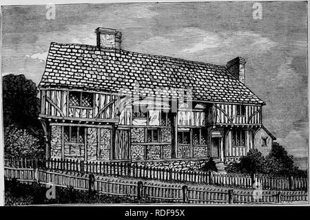 . The Victoria history of the county of Surrey. Natural history. A HISTORY OF SURREY Before further considering the details of such buildings, it may be well to say something of the plans. Those of the larger houses present no local peculiarities and have been dealt with m textbooks but smaller houses such as those lived in by the Elizabethan settlers and the farmers of the Weald have not been fbUy described or illustrated and it may be useful to give plans where the plan is fairly preserved Up to the middle of the fifteenth century the plan of all houses included a central hall open to the ro - Stock Photo