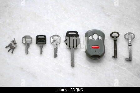 Kinds of keys - Stock Photo