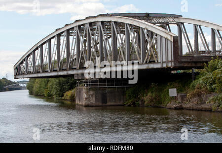 bridges on the ship canal - Stock Photo