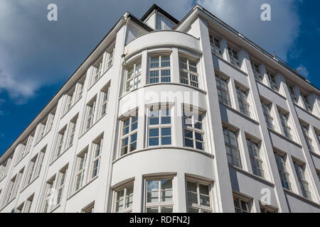Facade of a typical building in the old town of Hamburg - Stock Photo