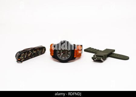 victorinox swiss army watch - Stock Photo