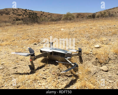 DJI Mavic Pro drone resting on ground ( camera drone ) - USA - Stock Photo