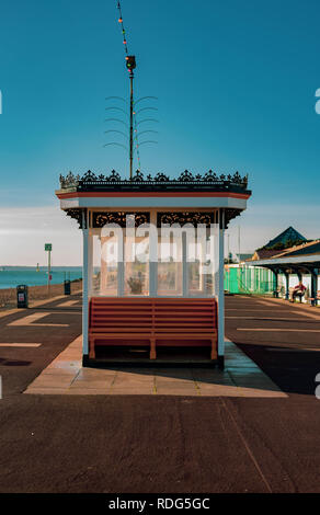 Southsea Beach Shelter - Stock Photo