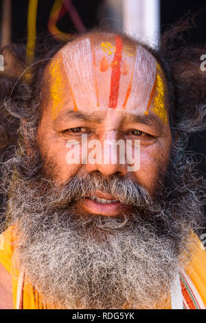 Hindu man, Kanyakumari (Cape Comorin), Tamil Nadu, India - Stock Photo