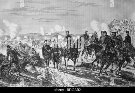 Combat at Nuits, historical illustration, Illustrierte Kriegschronik 1870 - 1871 illustrated chronicle of war
