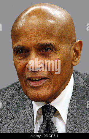 Harry Belafonte - *01.03.1927: American singer, songwriter and actor. Unicef Goodwill Ambassador. - Stock Photo