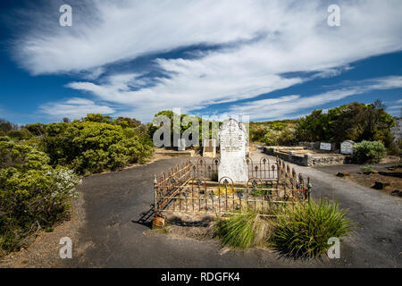 Historical Loch Ard Cemetery in Port Campbell National Park. - Stock Photo