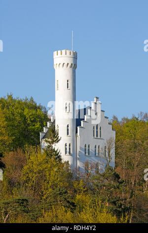 Schloss Lietzow Castle, Ruegen Island, Mecklenburg-Western Pomerania - Stock Photo