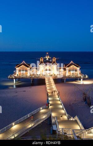 Sellin Pier, Ruegen Island, Mecklenburg-Western Pomerania - Stock Photo