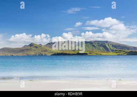 Isle of Canna in Scotland is the westernmost of the Small Isles archipelago, in the Scottish Inner Hebrides - Stock Photo