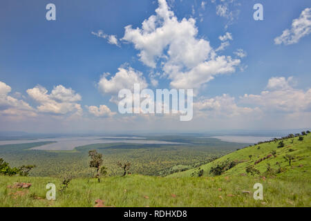 Akagera National Park, Parc National de l'Akagera, Eastern Province, Rwanda is a recovering conservation area. - Stock Photo