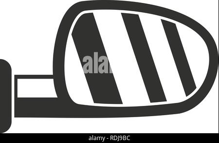 Car door mirror icon. Simple illustration of car door mirror vector icon for web design isolated on white background - Stock Photo