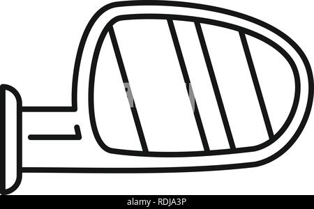 Car door mirror icon. Outline car door mirror vector icon for web design isolated on white background - Stock Photo