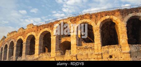 Verona, Italy. The Verona Arena is a Roman amphitheater in the city center, built in the first century - Stock Photo