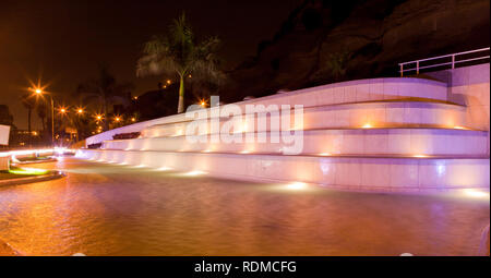 Fountain at Chorillos district in Lima - Stock Photo