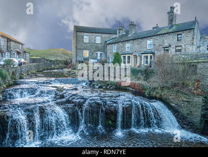 Hawes Gayle Beck in the Yorkshire Dales - Stock Photo