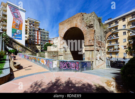 Naples (Italy) - 'Metro dell'arte' is the urban railways line 1, an attraction with its stations and artistic artworks. Salvator Rosa station - Stock Photo