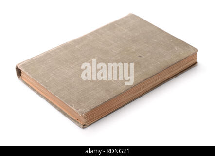 Old blank hardcover book isolated on white - Stock Photo