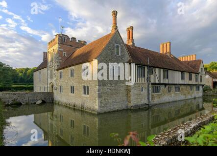 Moated Castle Ightham Mote, Tonbridge and Malling, England, United Kingdom - Stock Photo