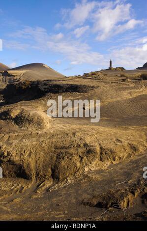 Capelinhos volcano on the island of Faial, Azores, Portugal - Stock Photo