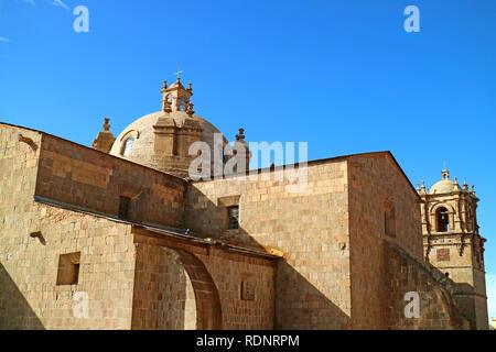 Cathedral of Puno, Peru or Catedral Basilica San Carlos Borromeo in Puno City of Peru - Stock Photo