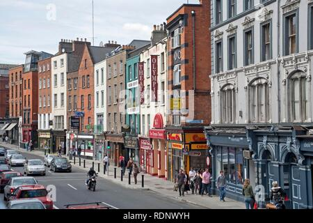 Dame Street with the Olympia Theatre, Dublin, Republic of Ireland, Europe - Stock Photo