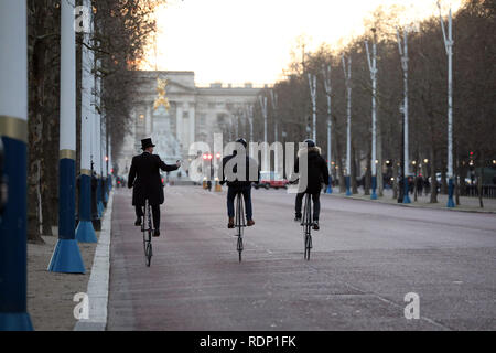 Penny Farthing tour St James's Park area - Stock Photo