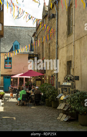 French Medieval walled town of Guerande in southern Brittany, France. - Stock Photo
