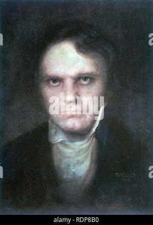 LUDWIG van BEETHOVEN (1770-1827) German composer. An imaginary portrait dated 1902. - Stock Photo