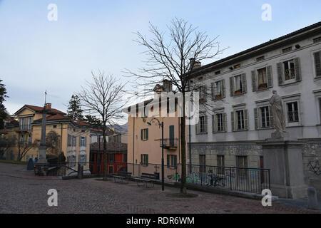 The Via Borghetto in Lugano - Stock Photo