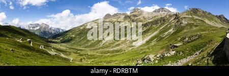 Splugenpass, Switzerland: mountain panorama - Stock Photo