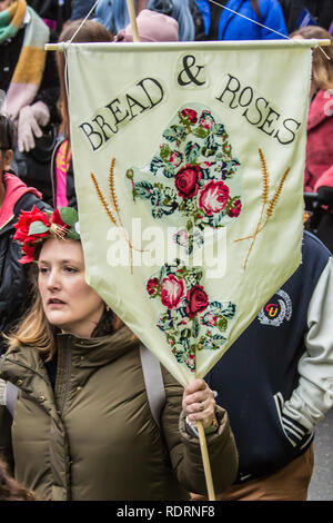 London,UK. 19 January, 2019. Thousands take part in the annual Women's March in London to demand prosperity not austerity. David Rowe/Alamy Live News. - Stock Photo