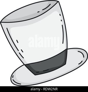 cute top hat icon - Stock Photo