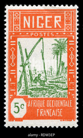 Postage stamp from Niger in the Definitive issue of 1926 - Stock Photo