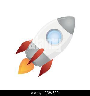 rocket ship illustration isolated on white background vector EPS10 - Stock Photo