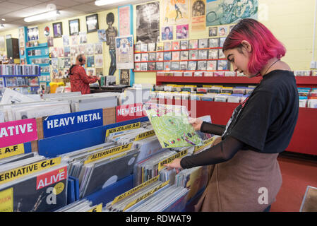Slow Boat Records is a popular music shop which sells new and used