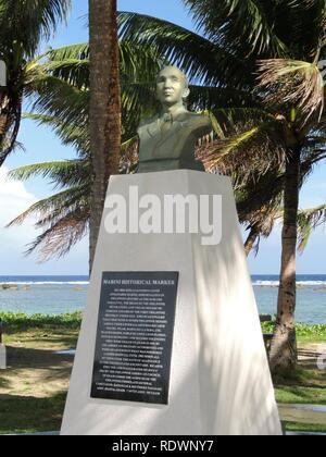 Apolinario Mabini historical marker - War in the Pacific National Historical Park (Asan Beach Unit) - - Stock Photo
