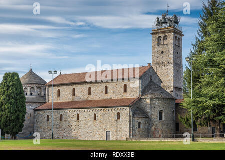 Historical church. Basilica S. Vittore (IX C.), Arsago Seprio, Italy - Stock Photo