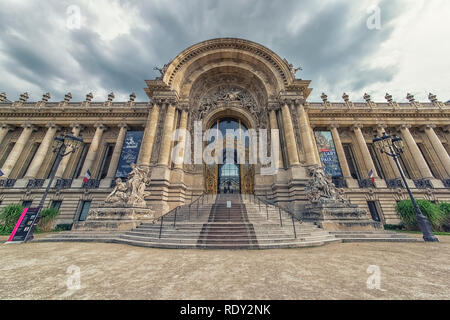 Facade of the Petit Palais in Paris - Stock Photo