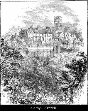 . Hours in my garden, and other nature-sketches. With 138 illus. Natural history. 27S In Durham and near ?/. else. No, we shall not here follow his example, but, in the clear brightness of the spring morning, take our reader by the hand and lead him along for a general view of Durham city.. DURHAM CATHEDRAL. As we pass from the railway station down by North Road, &c, to the bridge, the city is just awakening. A keen air blows through the winding streets, and a. Please note that these images are extracted from scanned page images that may have been digitally enhanced for readability - color - Stock Photo