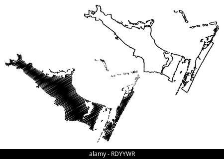 Corpus Christi City (United States cities, United States of America, usa city) map vector illustration, scribble sketch City of Corpus Christi map - Stock Photo