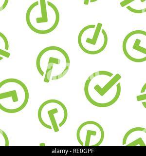 Check mark icon seamless pattern background  Ok, accept